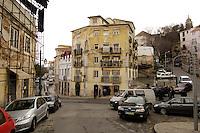 01 JAN 2006, LISBON/PORTUGAL:<br /> Haeuser und Gassen von Alfama, einem historischen Stadtteil der Stadt Lissabon<br /> Houses und Streets of Alfama, a historical district of the city of Lisbon<br /> IMAGE: 20060101-01-014<br /> KEYWORDS: Lisboa, Reise, travel, Stadtansicht, Europa, europe, cityscape, H&auml;user, Haus
