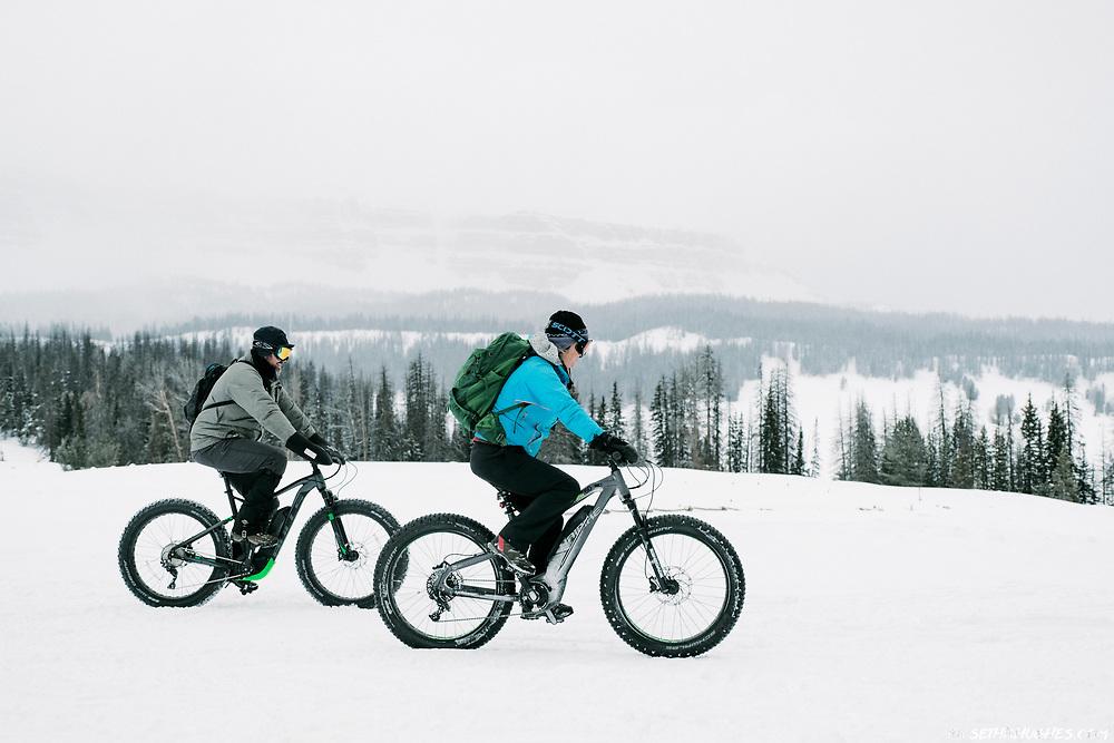 Fat biking near Brooks Lake, WY.