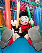 Dennis and Gnasher inside the new soft play area.