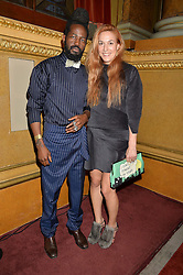 ROY LUWOLT and MARY ALICE MALONE at the LDNY Fashion Show and WIE Award Gala sponsored by Maserati held at The Goldsmith's Hall, Foster Lane, City of London on 27th April 2015.