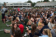 AUGUST 24, 2018  ATHENS, OHIO:<br /> Around 4000 other incoming freshman sat on the football field in Peden Stadium before posing for the first year class photo on August 24, 2018 in Athens, Ohio.