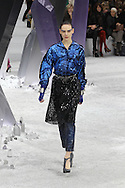 A model walks the runway at CHANEL Ready to Wear Autumn-Winter 2012/13 show during Paris Fashion Week at Grand Palais on March 6, 2012 in Paris, France (Photo by Tony Barson/BarsonImages)