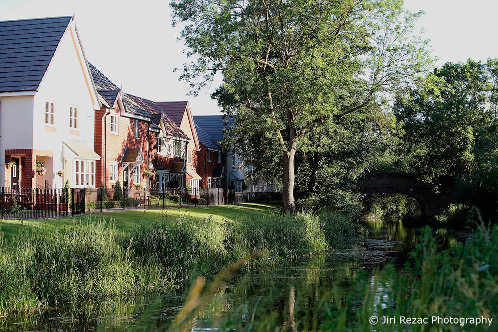 UK ENGLAND LEICESTERSHIRE AYLESTONE 30JUN15 - Residential housing development along the banks of the river Soar at Aylestone Meadows in Leicestershire.<br /> <br /> jre/Photo by Jiri Rezac / WWF UK<br /> <br /> © Jiri Rezac 2015