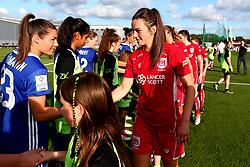 Chloe Arthur of Bristol City Women shakes hands with the Chelsea Ladies FC players - Mandatory by-line: Robbie Stephenson/JMP - 31/05/2017 - FOOTBALL - Stoke Gifford Stadium - Bristol, England - Bristol City Women v Chelsea Ladies - FA Women's Super League Spring Series