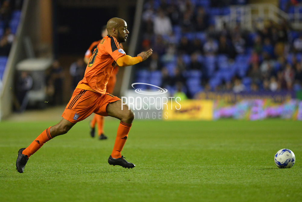 Ipswich Town striker David McGoldrick sprints forward with the ball during the Sky Bet Championship match between Reading and Ipswich Town at the Madejski Stadium, Reading, England on 11 September 2015. Photo by Mark Davies.
