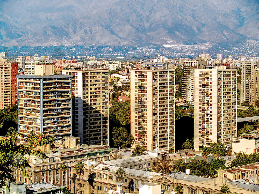 View of Santiago de Chile, with the Andes behind