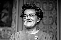 Sheelagh Murnaghan, MP, Ulster Liberal Party, Queen's University constituency, Belfast, N Ireland. She held the seat between 1961 and 1999 being the only Liberal Party member ever to be elected to the Stormont Parliament. 196801000029<br /> <br /> Copyright Image from Victor Patterson, 54 Dorchester Park, Belfast, UK, BT9 6RJ<br /> <br /> t1: +44 28 9066 1296 (from Rep of Ireland 048 9066 1296)<br /> t2: +44 28 9002 2446 (from Rep of Ireland 048 9002 2446)<br /> m: +44 7802 353836<br /> <br /> victorpattersonbelfast@gmail.com<br /> www.victorpatterson.com<br /> <br /> Please see my Terms and Conditions of Use at http://www.c1382010.myzen.co.uk/pdf/Terms%20&%20Conditions.pdf  It is IMPORTANT that you familiarise yourself with them.<br /> <br /> Images used on the Internet incur an additional cost and must be visibly watermarked i.e. ©Victor Patterson within the body of the image and copyright metadata must not be deleted. Images used on the Internet have a size restriction of 4kbs and are chargeable at rates available at victorpattersonbelfast@gmail.com.<br /> <br /> This image is only available for the use of the download recipient i.e. television station, newspaper, magazine, book publisher, etc, and must not be passed on to any third party. It is also downloaded on condition that each and every usage is notified within 7 days to victorpattersonbelfast@gmail.com.<br /> <br /> The right of Victor Patterson to be identified as the author is asserted in accordance with The Copyright Designs And Patents Act (1988). All moral rights are asserted.