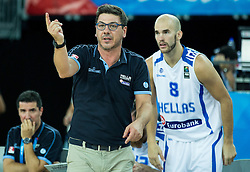 Fotis Katsikaris, head coach of Greece during basketball match between Greece and Croatia at Day 2 in Group C of FIBA Europe Eurobasket 2015, on September 6, 2015, in Arena Zagreb, Croatia. Photo by Vid Ponikvar / Sportida