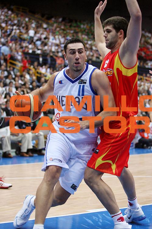 DESCRIZIONE : Saitama Giappone Japan Men World Championship 2006 Campionati Mondiali Final Greece-Spain <br /> GIOCATORE : Dikoudis <br /> SQUADRA : Greece Grecia <br /> EVENTO : Saitama Giappone Japan Men World Championship 2006 Campionato Mondiale Final Greece-Spain <br /> GARA : Greece Spain Grecia Spagna <br /> DATA : 03/09/2006 <br /> CATEGORIA : Penetrazione <br /> SPORT : Pallacanestro <br /> AUTORE : Agenzia Ciamillo-Castoria/E.Castoria <br /> Galleria : Japan World Championship 2006<br /> Fotonotizia : Saitama Giappone Japan Men World Championship 2006 Campionati Mondiali Final Greece-Spain <br /> Predefinita :