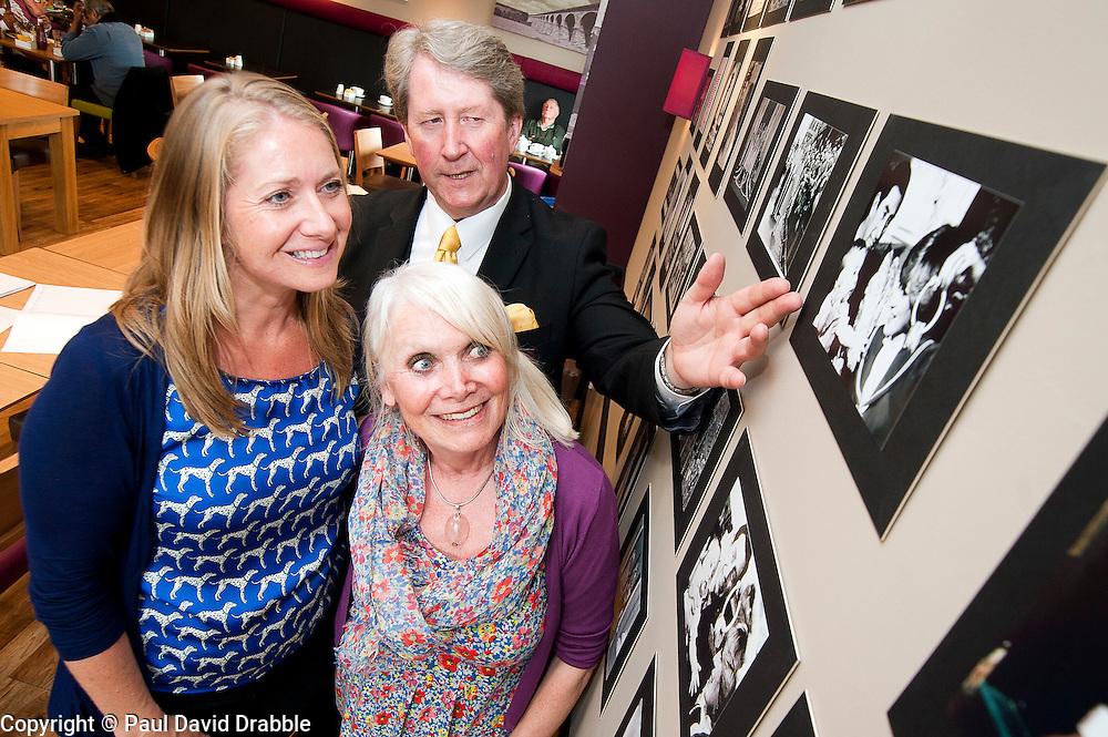 Susie Corbishley (left) and Cheryl Weston with Royal Photographer Ian Pelham-Turner in the Debenhams restaurant Harrogate on Thursday Afternoon..7 June 2012.Image © Paul David Drabble