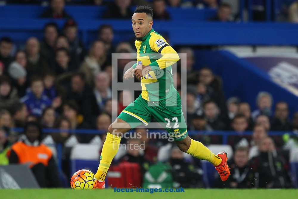 Nathan Redmond of Norwich in action during the Barclays Premier League match at Stamford Bridge, London<br /> Picture by Paul Chesterton/Focus Images Ltd +44 7904 640267<br /> 21/11/2015