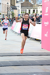 March 10, 2019 - London, United Kingdom - Runners are seen crossing the finishing line during The Vitality Big Half, which has returned for a festival of running and culture to the heart of London in a celebration of the rich and wonderful diversity of the capital city and Finishing it at Cutty Sark. (Credit Image: © Terry Scott/SOPA Images via ZUMA Wire)