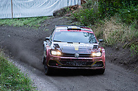 2019-09-07 | Linköping, Sweden: Lars Stugemo / Kalle Lexe  during East Rally Sweden / Rally SM in Linköping ( Photo by: Simon Holmgren | Swe Press Photo )<br /> <br /> Keywords: Linköping, Linköping, Rally, East Rally Sweden / Rally SM, ,