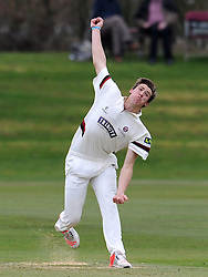 Somerset's Jamie Overton - Photo mandatory by-line: Harry Trump/JMP - Mobile: 07966 386802 - 23/03/15 - SPORT - CRICKET - Pre Season Fixture - Day 1 - Somerset v Glamorgan - Taunton Vale Cricket Club, Somerset, England.