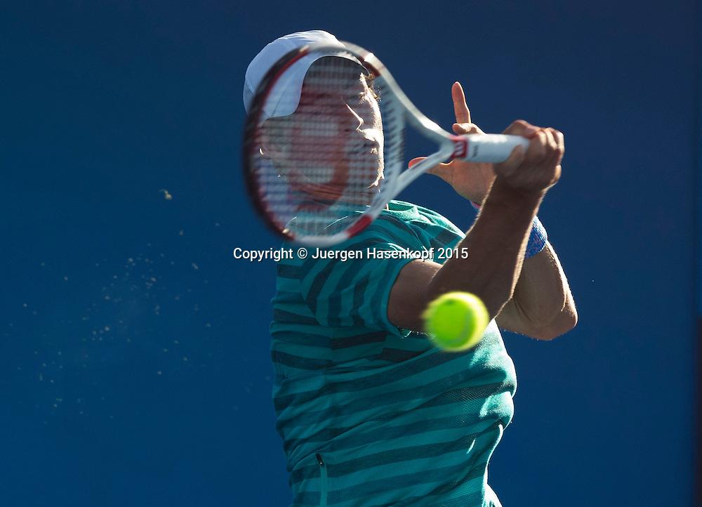 Florian Fallert (GER),kurios,<br /> <br />  - Australian Open 2015 -  -  Melbourne Park Tennis Centre - Melbourne - Victoria - Australia  - 24 January 2015. <br /> &copy; Juergen Hasenkopf