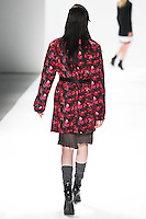 Katlin Aas walks the runway wearing Richard Chai during Mercedes-Benz Fashion Week in New York on February 9, 2012