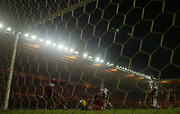 Photo: Andrew Unwin.<br /> Middlesbrough v Fulham. The Barclays Premiership.<br /> 20/11/2005.<br /> Middlesbrough's Jimmy Floyd Hasselbaink (L) scores his team's second goal.