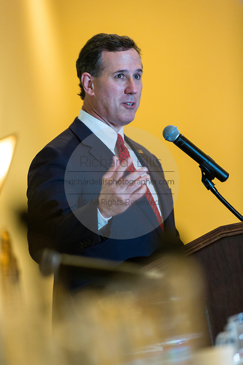 Former U.S. Senator Rick Santorum addresses the South Carolina National Security Action Summit on March 14, 2015 in West Columbia, South Carolina.