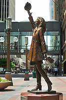 Mary Tyler Moore statue on Nicollet Mall in Minneapolis. Mary Tyler Moore home in Minneapolis, Minnesota. Mary Tyler Moore home. Home of the late Mary Tyler Moore who passed in January 2017. Television home of Mary Tyler Moore in Minneapolis, Minnesota.
