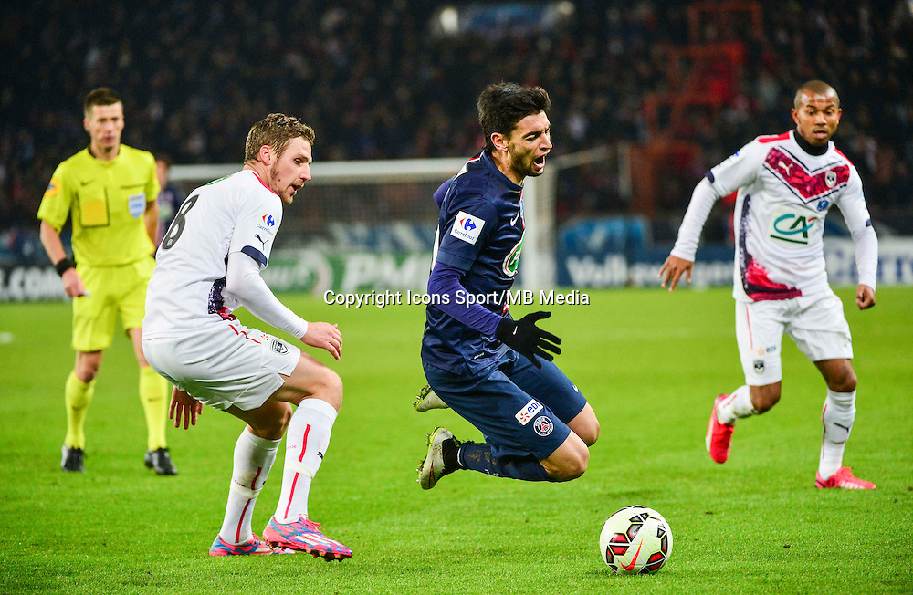 Javier PASTORE / Gregory SERTIC - 21.01.2015 - Paris Saint Germain / Bordeaux - Coupe de France<br /> Photo : Dave Winter / Icon Sport