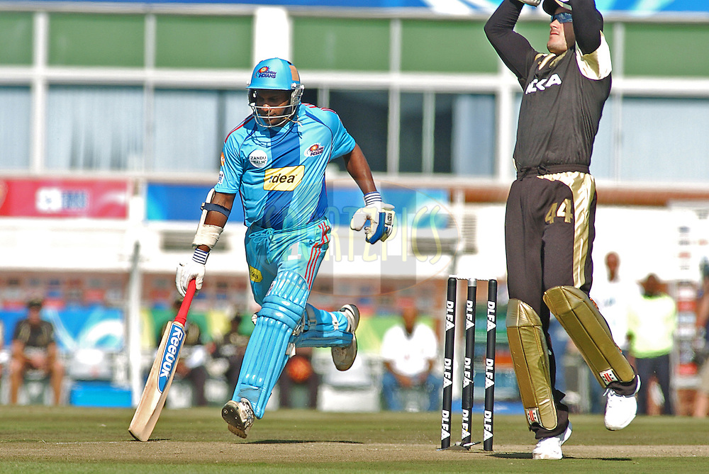 EAST LONDON, SOUTH AFRICA - 1 May 2009.  Jayasuriya during the  IPL Season 2 match between the Mumbai Indians and the Kolkata Knight Riders held at Buffalo Park in East London. South Africa...