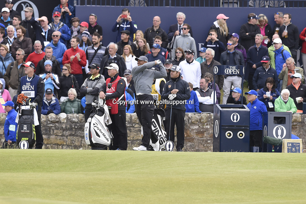 i16/07/2015 European Tour 2015, 144th OPEN CHAMPIONSHIP, Old Course, St. Andrews, Fife, Scotland, UK. 16 - 19 Jul. Tiger  Woods of United States during the first round.
