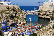 Rhiannan Iffland of Australia during the Red Bull Cliff Diving World Series 2018 on September 23, 2018 in Polignano a Mare, Italy - Photo Marco Verri / ProSportsImages / DPPI
