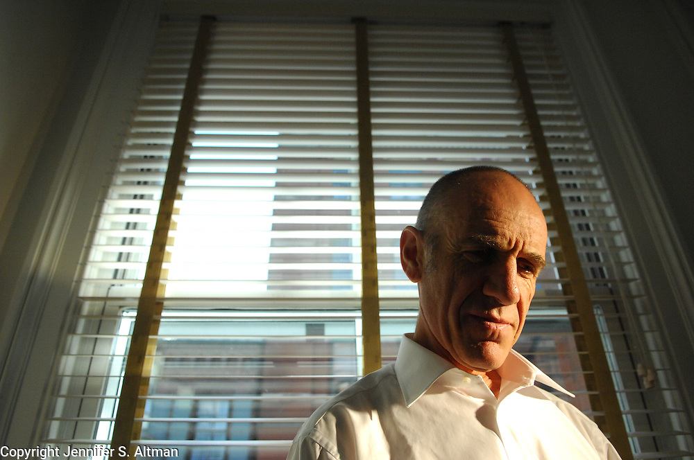 Writer, director, filmmaker Tony Kaye is seen in his hotel room at The Mercer Hotel in Manhattan, NY. 9/19/2007 Photo by Jennifer S. Altman/For The Times