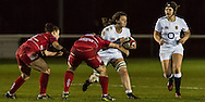Sally Stott in action, Army Women v U20 England Women at the Army Rugby Stadium, Aldershot, England, on 16th February 2017. Final score 15-38.