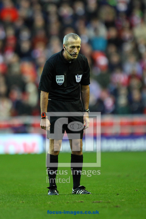 Picture by Paul Chesterton/Focus Images Ltd +44 7904 640267<br /> 21/12/2013<br /> Referee Martin Atkinson during the Barclays Premier League match at the Stadium Of Light, Sunderland.