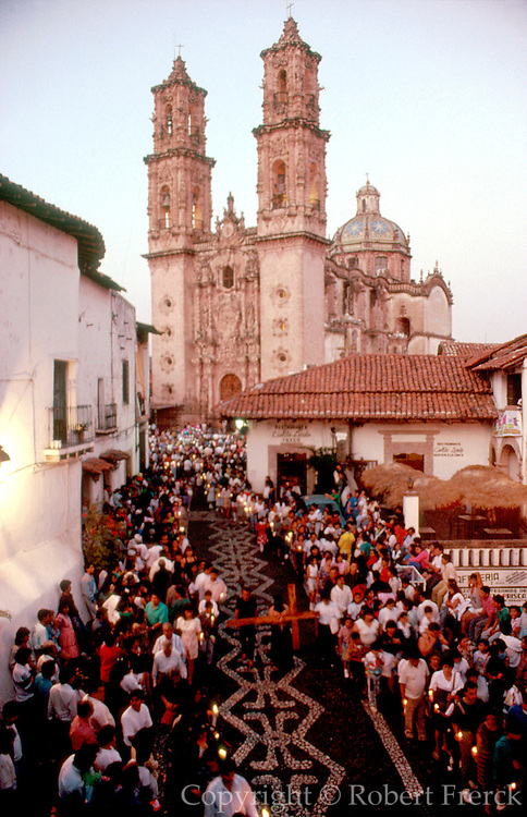 MEXICO, SEMANA SANTA Taxco; procession from church