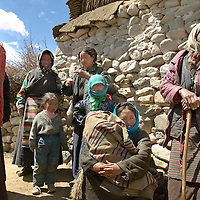 Mostly of the people of the small village of Narme in the country side of Tibet, are affected by the Kashin-Beck Disease, in the Lhasa river valley. Tibet, China. April 14, 2007. Photo: Bernardo De Niz