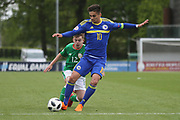 Ajdin Hasic of Bosnia and Herzegovina (10) dribbles into the box during the UEFA European Under 17 Championship 2018 match between Bosnia and Republic of Ireland at Stadion Bilino Polje, Zenica, Bosnia and Herzegovina on 11 May 2018. Picture by Mick Haynes.