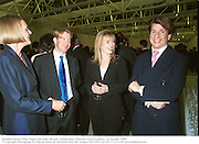 Nicholas Gleave, Ffion Hague and John Morgan. Conservative Network. Saatchi gallery. 20 October 1999<br />