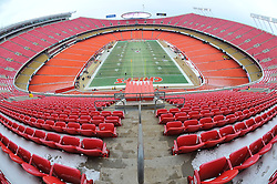 Jan 09, 2011; Kansas City, MO, USA; A general view of the stadium prior to the start of the 2011 AFC wild card playoff game between the Kansas City Chiefs and Baltimore Ravens at Arrowhead Stadium. Mandatory Credit: Your Name-US PRESSWIRE