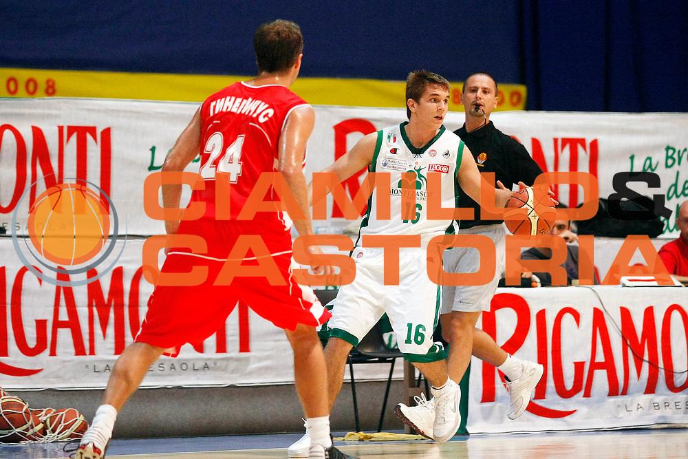 DESCRIZIONE : Bormio Lega A1 2008-09 Amichevole Montepaschi Siena Vladivostok<br /> GIOCATORE : Richar Gnzar<br /> SQUADRA : Montepaschi Siena<br /> EVENTO : Campionato Lega A1 2008-2009 <br /> GARA : Montepaschi Siena Vladivostok<br /> DATA : 06/09/2008 <br /> CATEGORIA : Palleggio<br /> SPORT : Pallacanestro <br /> AUTORE : Agenzia Ciamillo-Castoria/G.Cottini