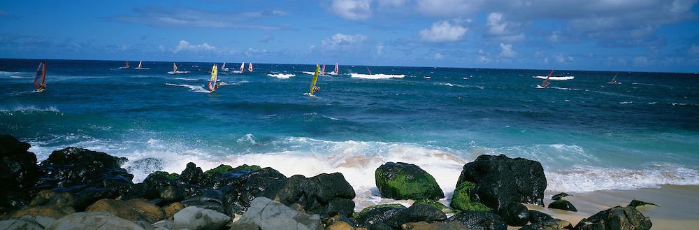 Windsurfing, Hookipa, Maui, Hawaii<br />