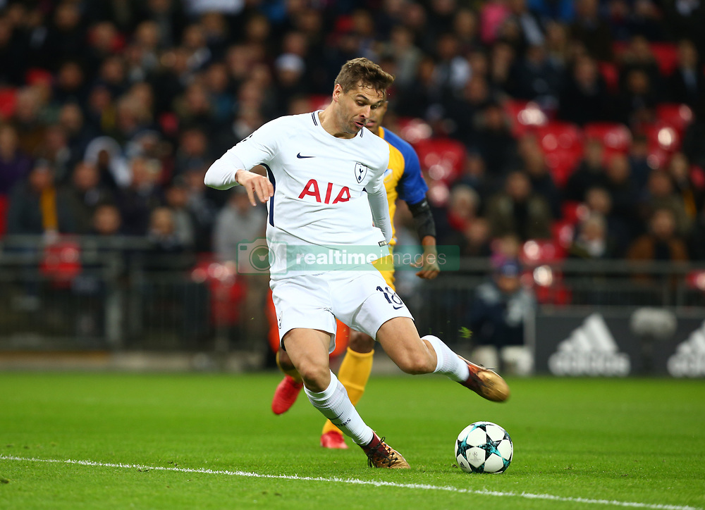 December 6, 2017 - London, England, United Kingdom - Tottenham Hotspur's Fernando Llorente scores his sides first goal  ..during the Champions  League Group G  match between Tottenham Hotspur and Apoel Nicosia at Wembley stadium , London, England on 6 Dec 2017. (Credit Image: © Kieran Galvin/NurPhoto via ZUMA Press)