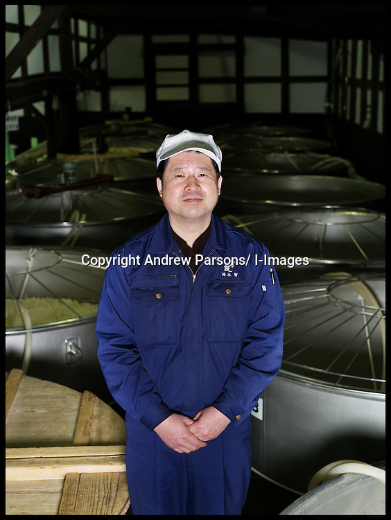 The Japanese Drink Sake being made in a Sake Brewery in Japan,at the Urakasumi Sake Brewery in Shiogama, Miyagi, a brewery which was hit by the tsunami in March 2011, Photo By Andrew Parsons/ i-Images