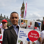 London, England, UK. 6th September 2017. Clive Lewis MP join The Royal collage of Nursing held a demonstration on Parliament square, to demand the goverment ends the 1% pay carp.