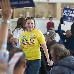 Hillary Clinton volunteer Andrea Corwin at Reno High School during the Nevada presidential caucus site in Reno, Saturday, Jan. 19, 2008...Photo by David Calvert/Bloomberg News
