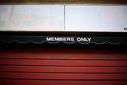 UK ENGLAND LONDON 1MAY12 - Membes only sign in Islington, North London....jre/Photo by Jiri Rezac....© Jiri Rezac 2012