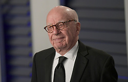 February 24, 2019 - Beverly Hills, California, U.S - Rupert Murdoch on the red carpet of the 2019 Vanity Fair Oscar Party held at the Wallis Annenberg Center in Beverly Hills, California on Sunday February 24, 2019. JAVIER ROJAS/PI (Credit Image: © Prensa Internacional via ZUMA Wire)