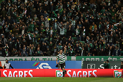 February 3, 2019 - Lisbon, PORTUGAL, Portugal - Bruno Fernandes of Sporting CP seen celebrating with supporters after scoring during the League NOS 2018/19 footballl match between Sporting CP vs SL Benfica. (Credit Image: © David Martins/SOPA Images via ZUMA Wire)