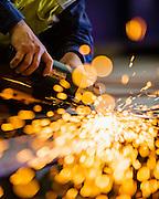 Metal Grinding, Australian Shipyard.