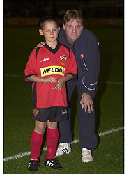CRAIG NORMAN AND MASCOT HEREFORD GAME 24/9/022002  Kettering Town v Hereford United Rockingham Road  24th September 2002