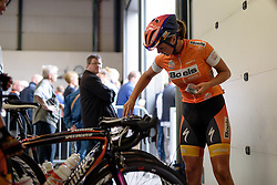 Race leader, Chantal Blaak (Boels Dolmans) prepares for the final stage at the 119 km Stage 6 of the Boels Ladies Tour 2016 on 4th September 2016 from Bunde to Valkenburg, Netherlands. (Photo by Sean Robinson/Velofocus).