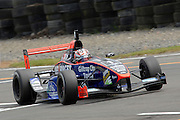 The Toyota Racing Series car of Auckland's Mitch Evans on his way to claiming pole position for Race 1 at the Fujitsu 200 at Manfeild Autocourse on 11 February 2012. The Fujitsu 200 is part of the New Zealand Premier Race Championship Series.