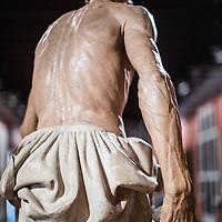Back of Saint Jerome sculpture, work by Pietro Torrigiani,  Museum of Fine Arts, Seville, Spain