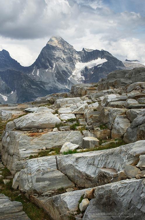 Mount Sir Donald seen from Abbott Ridge. Selkirk Mountains Glacier National Park British Columbia